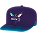 Front view of adidas Charlotte Hornets NBA Sub Vize Snapback Hat in Team Colors