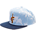 Front view of adidas Cleveland Cavaliers NBA Denim Snapback Hat in Blue