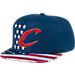 Front view of Men's adidas Cleveland Cavaliers NBA 2016 Patriotic Snapback Hat in Team Colors