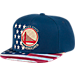 Front view of Men's adidas Golden State Warriors NBA 2016 Patriotic Snapback Hat in Team Colors