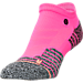 Front view of Women's Stance Burn Low-Cut Socks in Pink/Heather Grey
