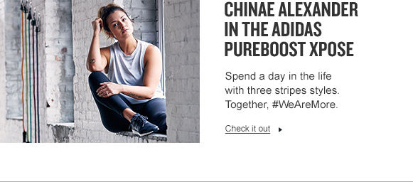 Chinae Alexander in adidas PureBOOST Xpose