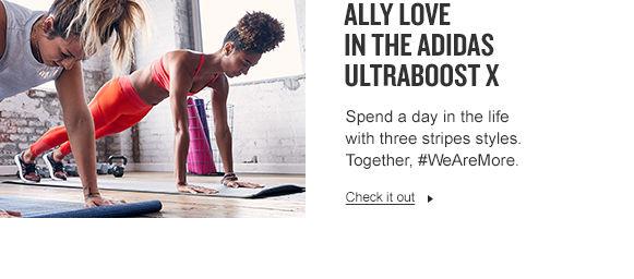 Ally Alove in adidas UltraBOOST X.