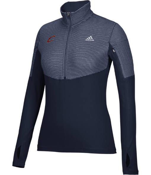 Women's adidas Cleveland Cavaliers NBA Heat Transfer Half-Zip Shirt