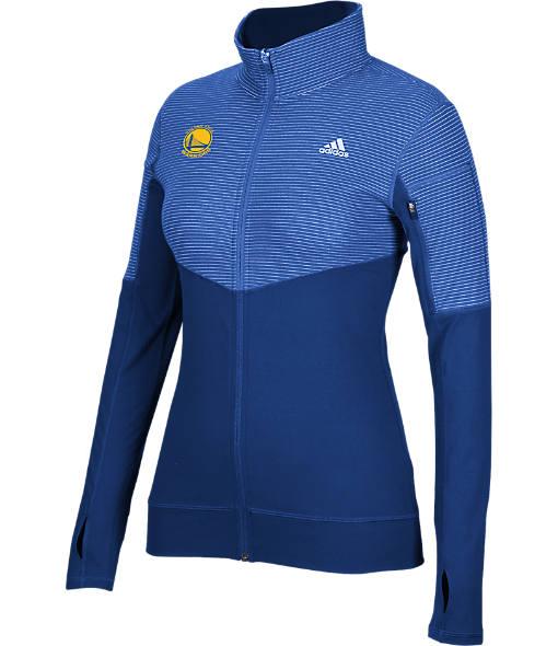 Women's adidas Golden State Warriors NBA Heat Transfer Half-Zip Shirt