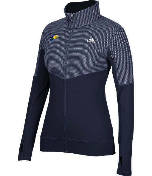 Women's adidas Indiana Pacers NBA Heat Transfer Half-Zip Shirt