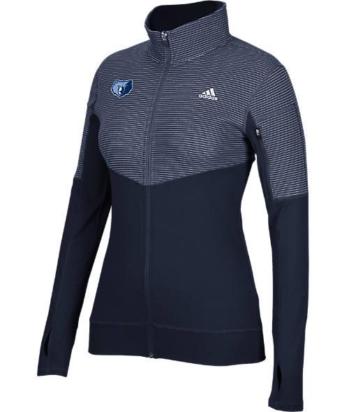Women's adidas Memphis Grizzlies NBA Heat Transfer Half-Zip Shirt