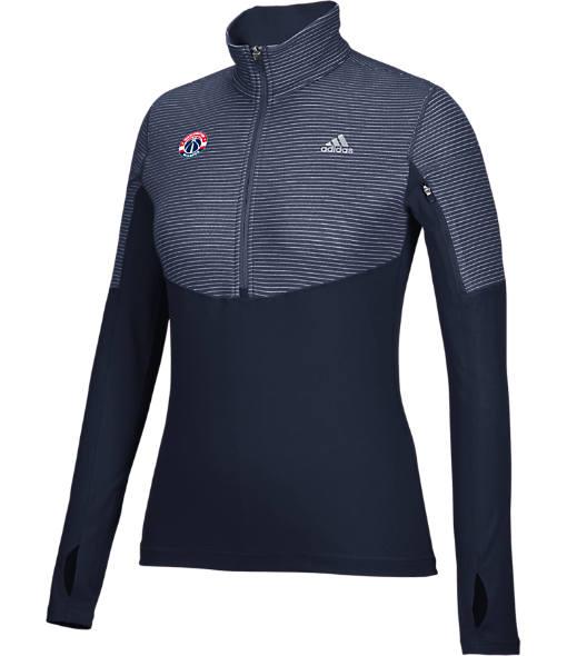 Women's adidas Washington Wizards NBA Heat Transfer Half-Zip Shirt
