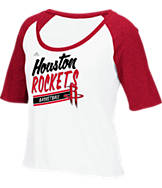 Women's adidas Houston Rockets NBA Stripe Slant T-Shirt