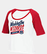 Women's adidas Washington Wizards NBA Stripe Slant T-Shirt