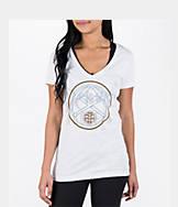 Women's adidas Denver Nuggets NBA Top Logo Slant V-Neck T-Shirt