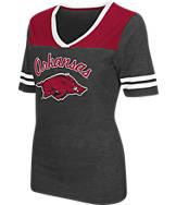 Women's Stadium Arkansas Razorbacks College Twist V-Neck T-Shirt