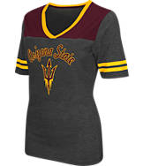 Women's Stadium Arizona State Sun Devils College Twist V-Neck T-Shirt