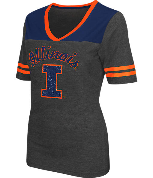 Women's Stadium Illinois Fighting Illini College Twist V-Neck T-Shirt