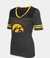 Women's Stadium Iowa Hawkeyes College Twist V-Neck T-Shirt