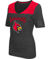 Women's Stadium Louisville Cardinals College Twist V-Neck T-Shirt