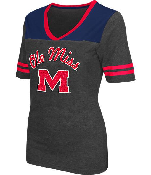 Women's Stadium Mississippi Rebels College Twist V-Neck T-Shirt