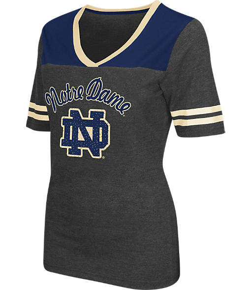 Women's Stadium Notre Dame Fighting Irish College Twist V-Neck T-Shirt