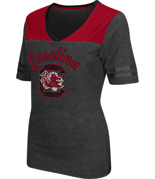 Women's Stadium South Carolina Gamecocks College Twist V-Neck T-Shirt