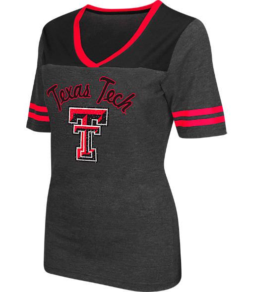 Women's Stadium Texas Tech Red Raiders College Twist V-Neck T-Shirt