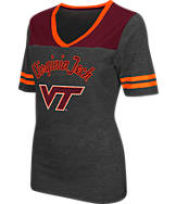 Women's Stadium Virginia Tech Hokies College Twist V-Neck T-Shirt
