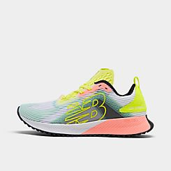 Womens 뉴발란스 New Balance FuelCELL Echolucent Running Shoes,White/Lemon Slush