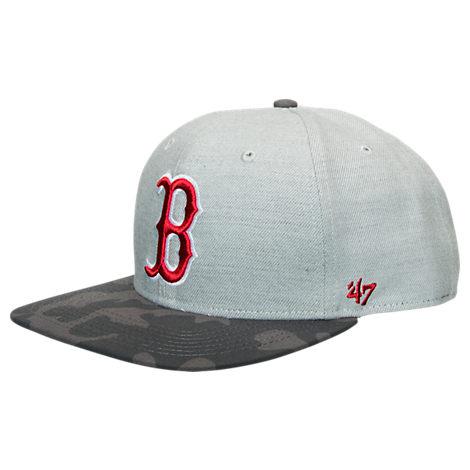 '47 Brand Boston Red Sox MLB Grey Recon Camo Snapback Hat