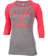 Women's adidas Chicago Bulls NBA Street Sweeper 3/4 Sleeve Shirt