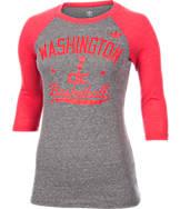 Women's adidas Washington Wizards NBA Street Sweep Quarter Length Sleeve Shirt