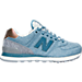 Right view of Women's New Balance 574 Heathered Casual Shoes in AEC