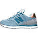 Left view of Women's New Balance 574 Heathered Casual Shoes in AEC