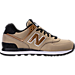 Right view of Women's New Balance 574 Seasonal Shimmer Casual Shoes in Copper Metallic