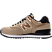 Left view of Women's New Balance 574 Seasonal Shimmer Casual Shoes in Copper Metallic