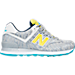 Right view of Women's New Balance 574 Summer Waves Casual Shoes in Silver/Lime