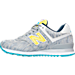 Left view of Women's New Balance 574 Summer Waves Casual Shoes in Silver/Lime