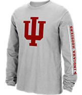 Men's adidas Indiana Hoosiers College Sleeve Play Long-Sleeve T-Shirt
