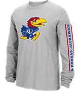 Men's adidas Kansas Jayhawks College Sleeve Play Long-Sleeve T-Shirt