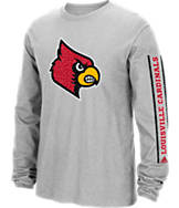 Men's adidas Louisville Cardinals College Sleeve Play Long-Sleeve T-Shirt