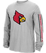 Men's adidas Louisville Cardinals College Sleeve Play Long-Sleeve T-Shirt