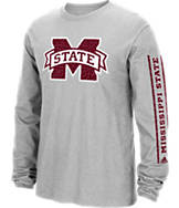 Men's adidas Mississippi State Bulldogs College Sleeve Play Long-Sleeve T-Shirt