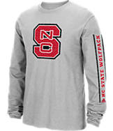 Men's adidas North Carolina State Wolfpack College Sleeve Play Long-Sleeve T-Shirt