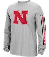 Men's adidas Nebraska Cornhuskers College Sleeve Play Long-Sleeve T-Shirt