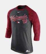 Men's Nike Washington Nationals MLB AC Legend Raglan Baseball T-Shirt