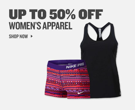 Up To 50% Off Women's Apparel.