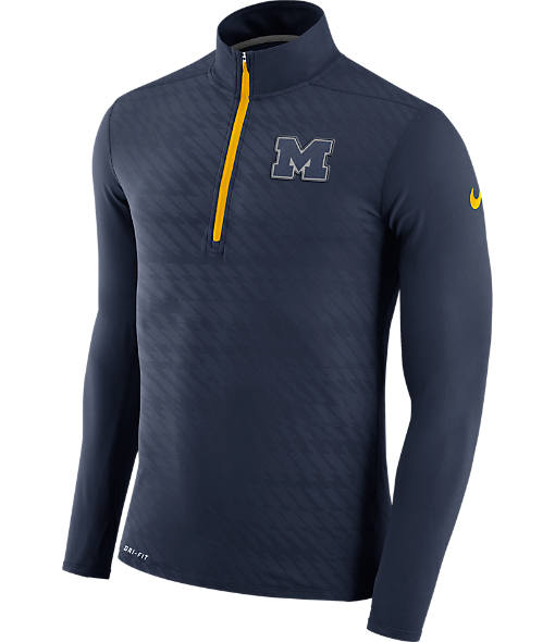 Men's Nike Michigan Wolverines College Dry Element Quarter-Zip Jacket