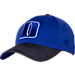 Front view of Top Of The World Duke Blue Devils College Lightspeed Flex Fit Hat in Team Colors