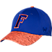 Front view of Top Of The World Florida Gators College Lightspeed Flex Fit Hat in Team Colors