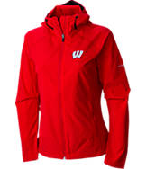 Women's Columbia Wisconsin Badgers College Surefire Softshell Jacket