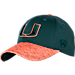Front view of Top Of The World Miami Hurricanes College Lightspeed Flex Fit Hat in Team Colors