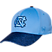 Front view of Top Of The World North Carolina Tar Heels College Lightspeed Flex Fit Hat in Team Colors